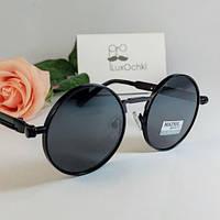 Круглые черные поляризованные очки Matrix с пружинками