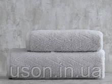 Набор махровых полотенец ( 50*85, 75*150 ) TM Pavia Турция SHERON GRI серый