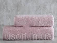 Набор махровых полотенец ( 50*85, 75*150 ) TM Pavia Турция SHERON PUDRA  розовый