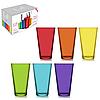 Стаканы цветные стеклянные набор 6 шт. (320 мл.)