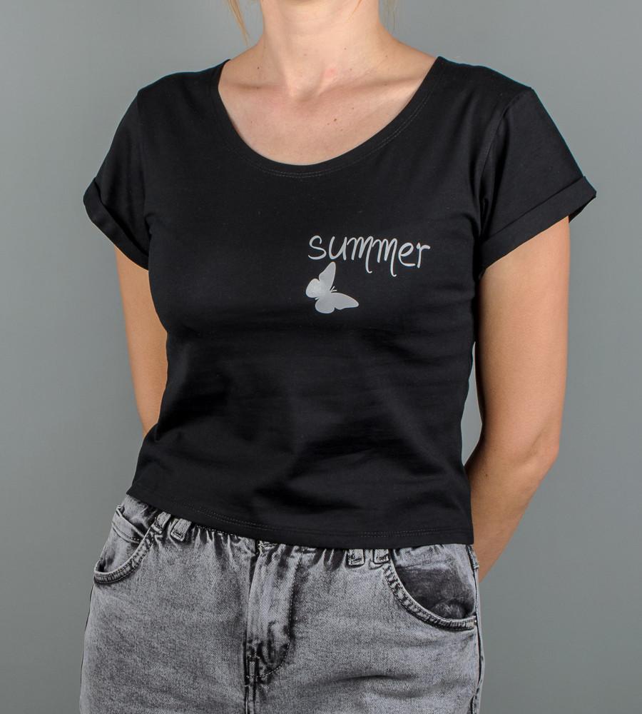 """Топ жіночий """"Summer"""", розмір: M (Т004), Чорний"""