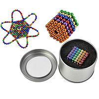 Оригинальный подарок Неокуб Neocube цветной 216 неодимовых 5мм шариков сфер Магнитный конструктор радуга