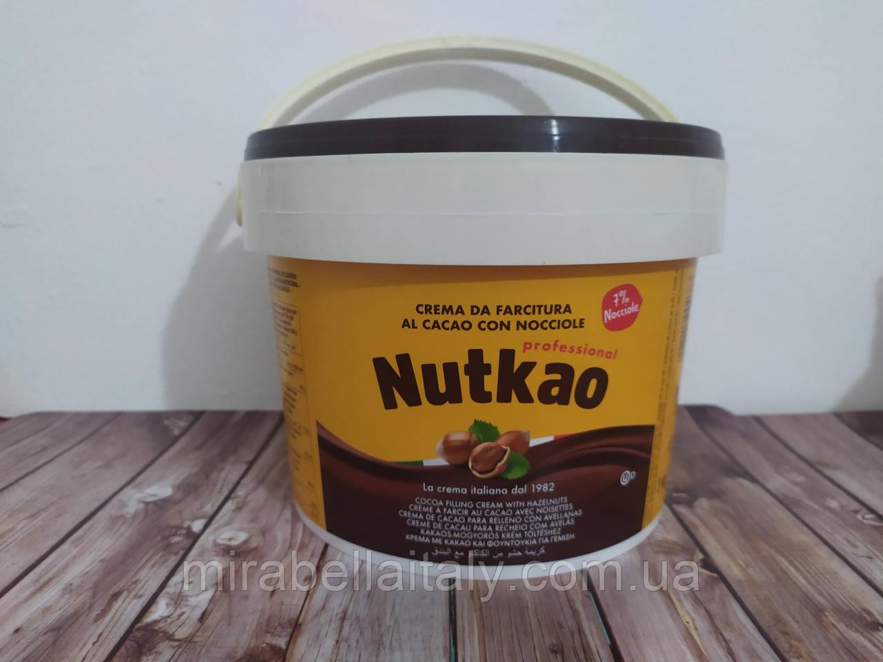 Шоколадная паста Nutkao.ведро 3 кг.Италия