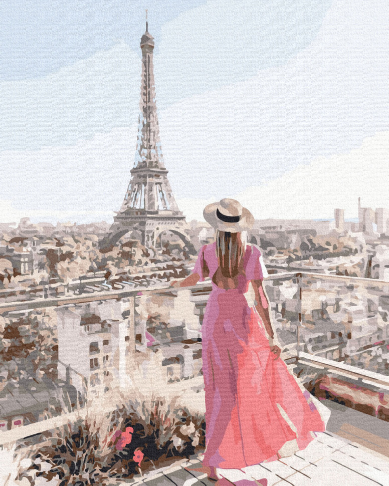 "Картина по номерам. Rainbow Art ""Парижская терраса"" GX39385-RA"