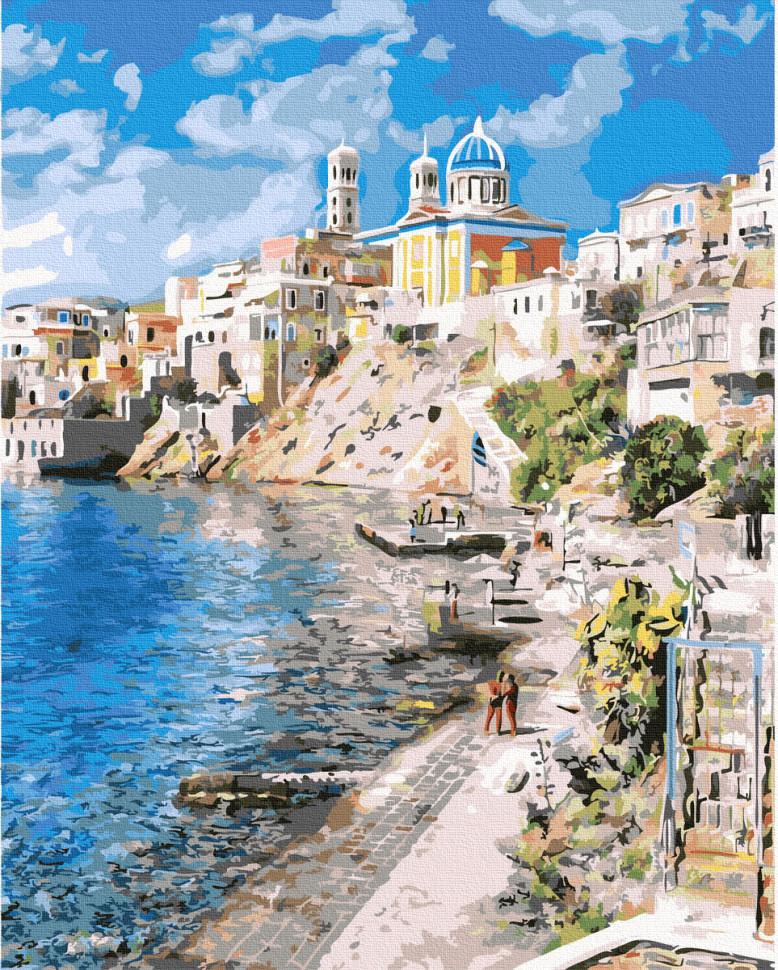 "Картина по номерам. Rainbow Art ""Красивая Греция"" GX37903-RA"