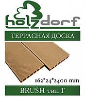Терасні дошка HOLZDORF Brush (б/ш) 153х24,5х3000 мм (0,459 м2), фото 1