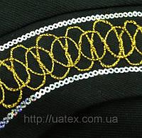 Компьютерная машинная вышивка шнуром и пайетками 0010