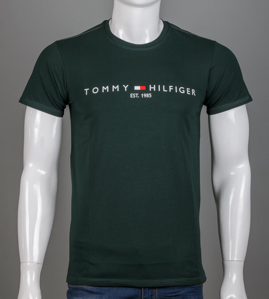 -Р- Футболка мужская Tommy Hilfiger Зеленый (2101м), L