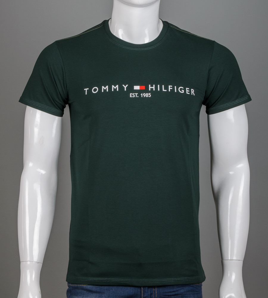 -Р - Футболка чоловіча Tommy Hilfiger Зелений (2101м), L
