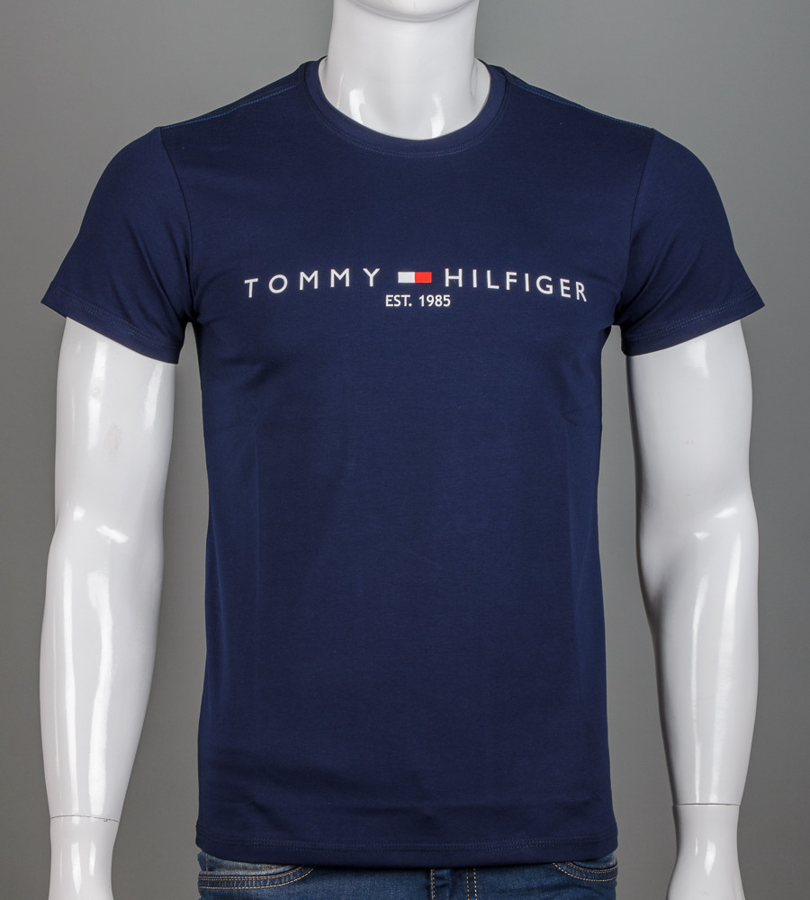 -Р- Футболка мужская Tommy Hilfiger Темно-синий (2101м), L