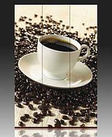 """Ширма деревянная """"Кофе на зернах"""""""