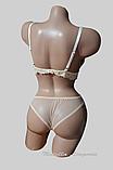 Комплект женского белья бюстгальтер треугольник поролон и трусики. Кружевной топ и трусики., фото 3