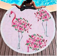 Підстилка на пляж/пляжне рушник Фламінго Квіти FL 249