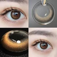 Цветные контактные линзы Коричневый + Серый