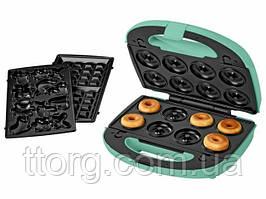 Мультимейкер, вафельниця, печеница, пончнитця SilverCrest 3 в 1 SWEW 750 B3 (Німечинна)