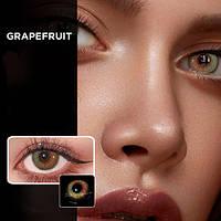 Цветные контактные линзы Коричневый + Зеленый (GRAPEFRUIT)