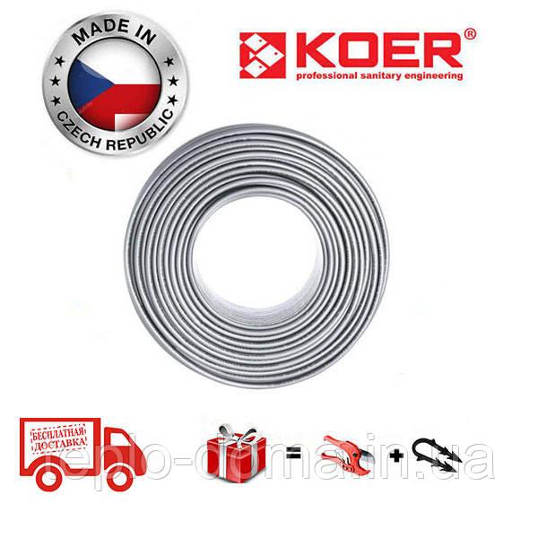 Труба для теплого пола KOER PEX-B EVOH 16*2,0 (SILVER)Бухта 400м