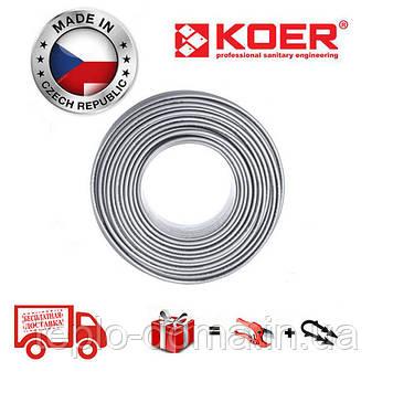 Труба для теплої підлоги  KOER PEX-B EVOH 16 * 2,0 (SILVER) Бухта 400м