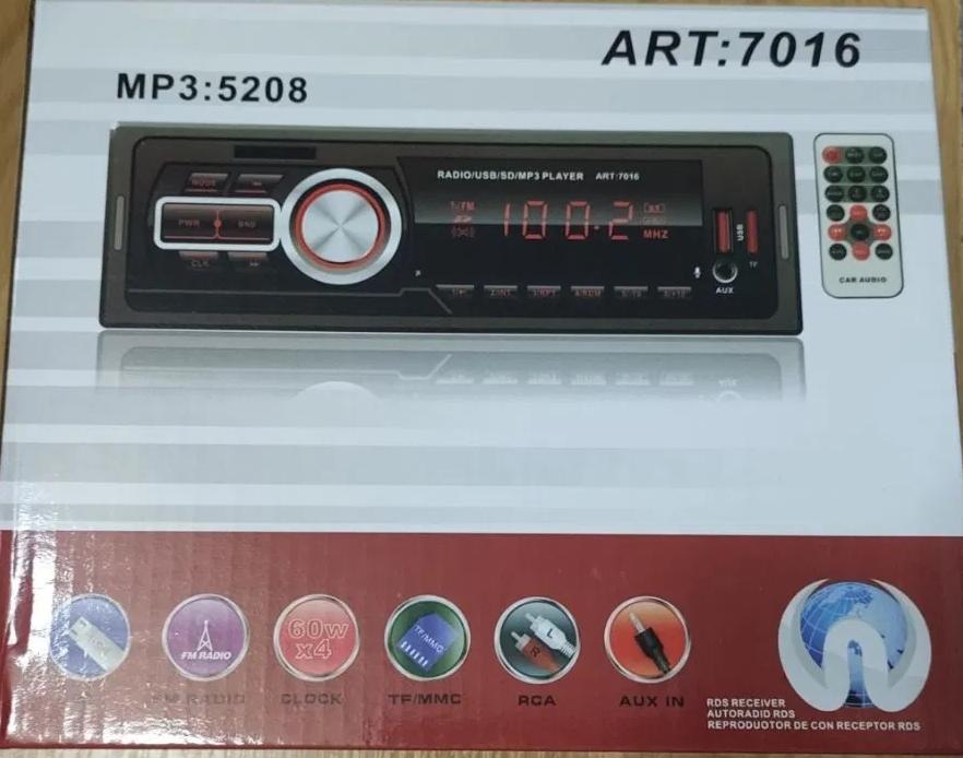 Автомагнитола MP3 5208 ISO ( USB, microSD, AUX, MP3 ), Автомобильная магнитола