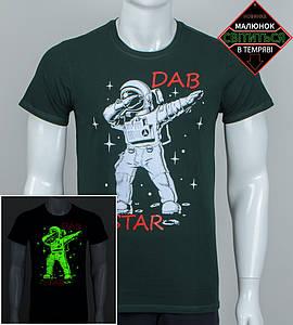 Футболка мужская светящаяся DAB Star (2061м), Т.Зеленый