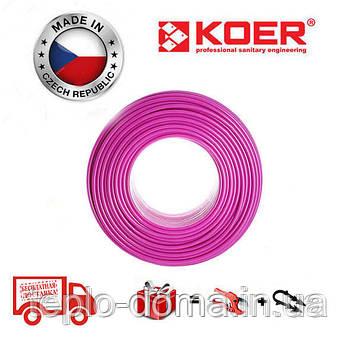 Труба для теплої підлоги  KOER PEX-B EVOH 16 * 2,0 (PINK) Бухта 400м