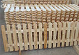 Штакетник деревянный садовый высотой 40 см, фото 2