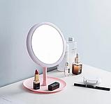 Настольное зеркало c LED подсветкой для макияжа круглое  (W8), фото 3