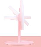 Настільне дзеркало з LED підсвічуванням для макіяжу кругле (W8), фото 5