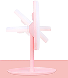 Настольное зеркало c LED подсветкой для макияжа круглое  (W8), фото 5