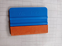 Ракель двохсторонній з мікрофіброю для поклейки карбону, вінілових і тонуючих плівок