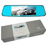 Автомобильный видеорегистратор зеркало заднего вида Anytek T77 Full Hd Ночное видение / Двойной объектив, фото 3
