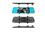 Автомобильный видеорегистратор зеркало заднего вида Anytek T77 Full Hd Ночное видение / Двойной объектив, фото 4