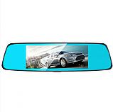 Автомобильный видеорегистратор зеркало заднего вида Anytek T77 Full Hd Ночное видение / Двойной объектив, фото 5