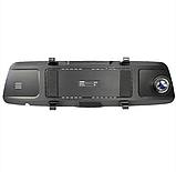 Автомобильный видеорегистратор зеркало заднего вида Anytek T77 Full Hd Ночное видение / Двойной объектив, фото 8