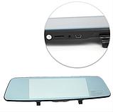 Автомобильный видеорегистратор зеркало заднего вида Anytek T77 Full Hd Ночное видение / Двойной объектив, фото 9