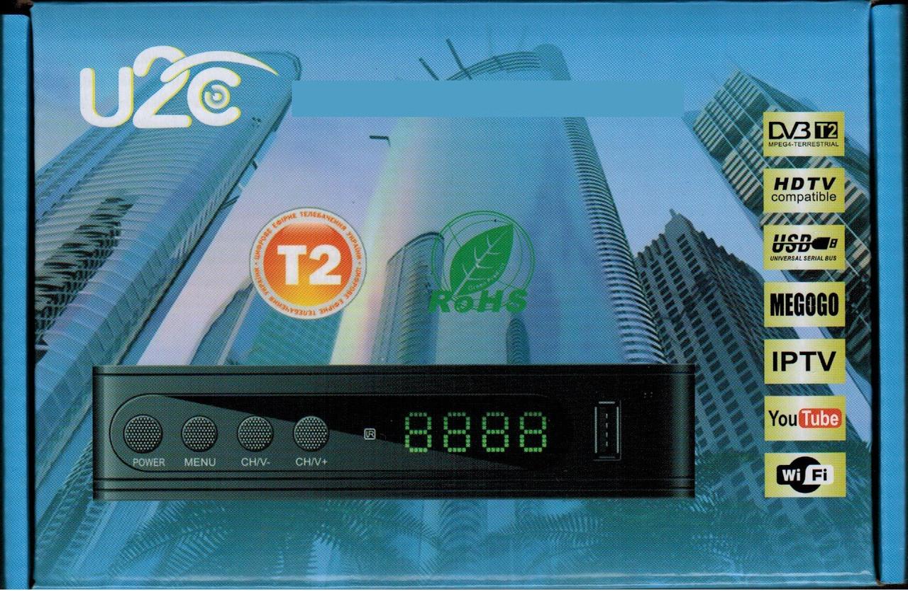 Цифровий ефірний DVB-Т2 ресивер U2C тюнер для теле-програм у FullHD якості Youtube,Wi-Fi
