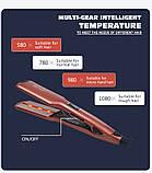 Утюжок для вирівнювання волосся ENZO EN-3851 c LED дисплеєм, фото 4