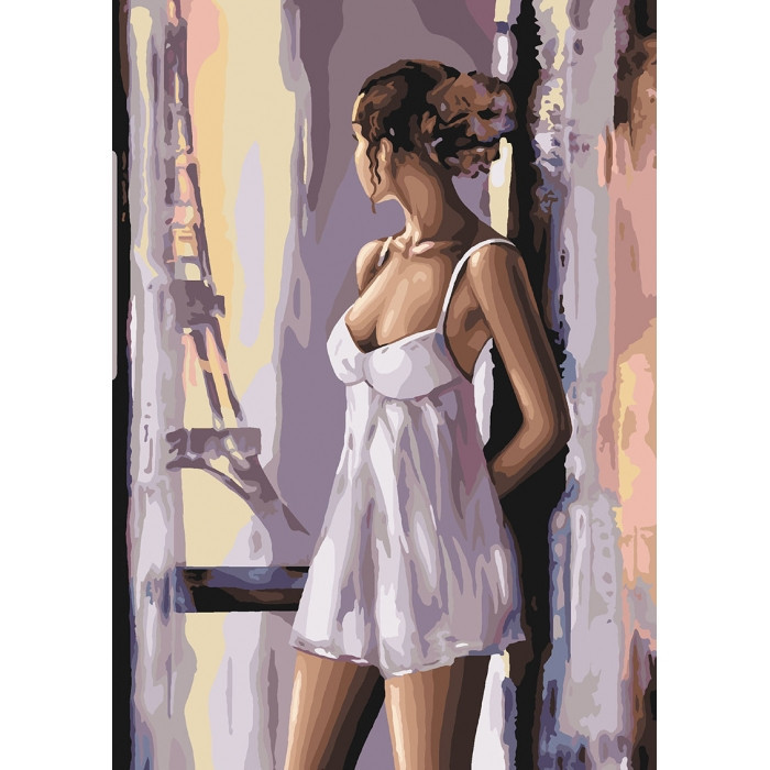 "Картина по номерам. ""Французские мечты"" KHO4598, 35х50 см"