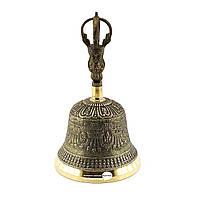 Тибетский колокол бронзовый d-11,5 h-19см 0,65кг (3212)
