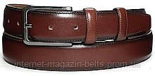 Чоловічий ремінь шкіряний Bond 11200b коричневий