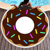 Пляжний килимок/ покривало Шоколадний Пончик ( 150 см) FL 261