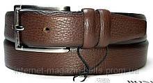 Чоловічий ремінь шкіряний Bond 7010 коричневий