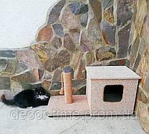 Когтеточка будиночок (дряпка) для кота (кішки) D7125