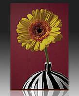"""Ширма """"Цветок в вазе"""", 120х180см, деревянная"""