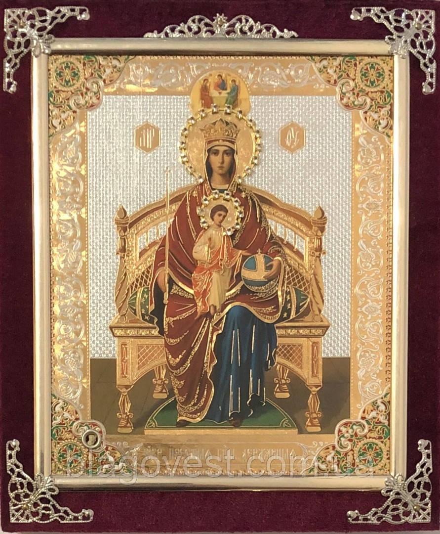 Икона С бархат 15х18 (с украшением)