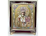 Икона С бархат 15х18 (с украшением), фото 8