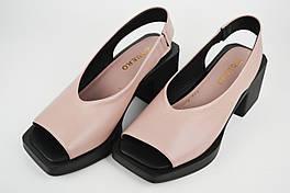 Босоножки на каблуке Guero 1724717 36 Сиреневый кожа