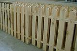 Штакетник деревянный садовый высотой 40 см, фото 4