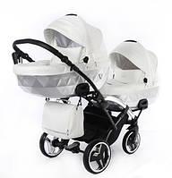 Коляска для двох малюків - Junama Diamond Mirror Satin Duo Slim, фото 1