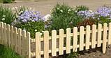 Штакетник деревянный садовый высотой 40 см, фото 6